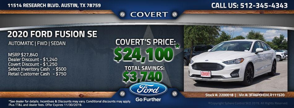 Austin best price new Ford Fusion
