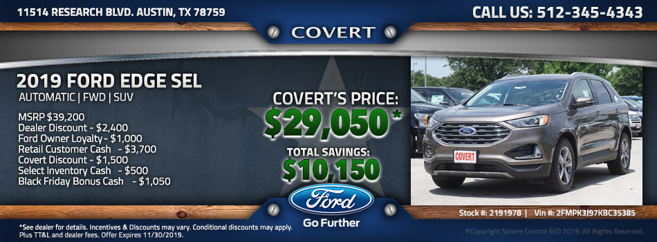 Austin best price new Ford Edge