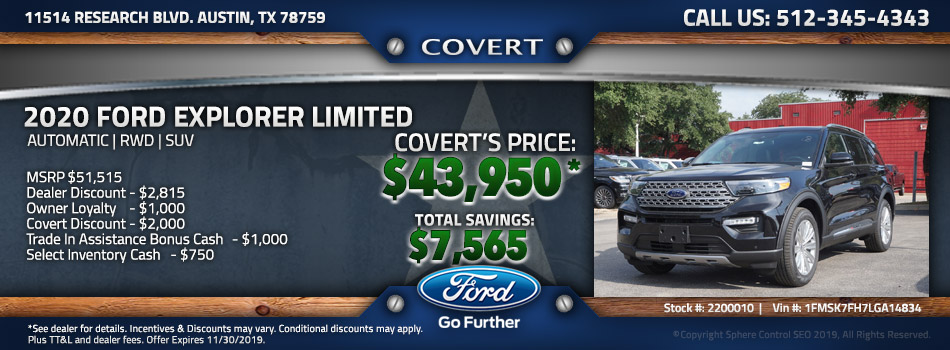 Austin best price new Ford Explorer
