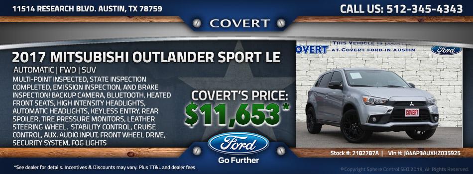 austin best price used Mitsubishi Outlander